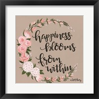 Framed Happiness Blooms from Within