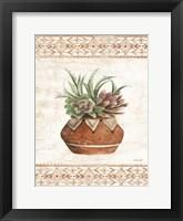 Framed Southwest Terracotta Succulents II