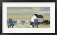 Framed Beach Chairs Panorama