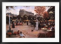 Framed Parisian Promenade