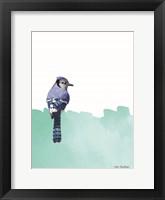 Framed Bird on Blue