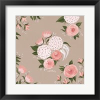 Framed Pink and White Floral