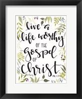 Framed Gospel of Christ