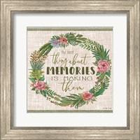 Framed Making Memories Succulent Wreath