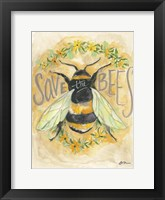 Framed Save the Bees