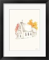 Framed Autumn Church