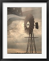 Framed Land That I Love Windmill I