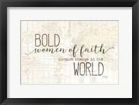 Framed Bold Women of Faith