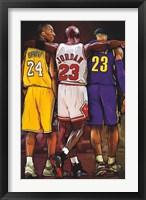 Framed Kobe, Jordan, LeBron