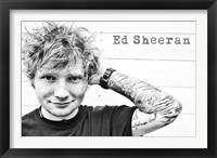 Framed Ed Sheeran -  Tattoos