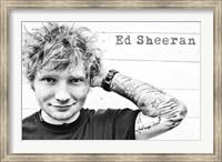 Framed Ed Sheeran -  Tattoos