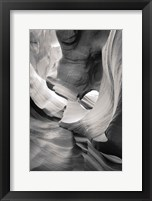 Framed Lower Antelope Canyon IX BW