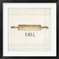 Framed Floursack Kitchen Sign II Neutral Sq