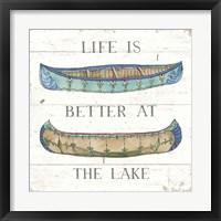 Framed Lake Sketches V Color