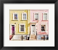 Framed London Houses Spring