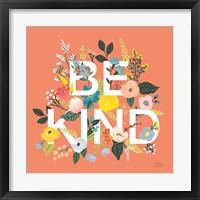 Framed Wild Garden I Be Kind