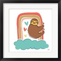 Framed Colorful Sloth I