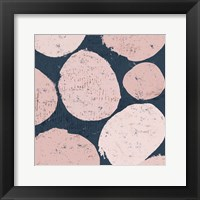 Framed Raw Sienna IX Pink