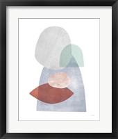Whispers III Coral Framed Print