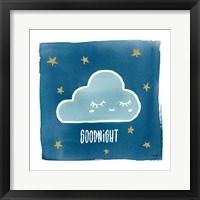 Night Sky Goodnight Framed Print