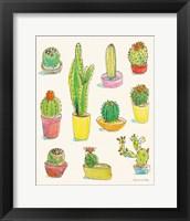 Framed Cacti Garden I