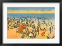Framed Beach Postcard IV