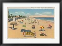 Framed Beach Postcard I