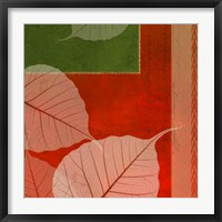 Framed Leaves In Orange 3