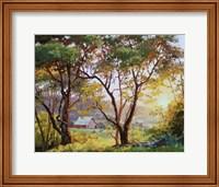 Framed Burnished Landscape