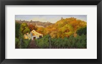 Framed Ochre Hillside