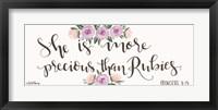 Framed Proverb 3:15