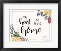 Framed Fruit - Heart of Our Home