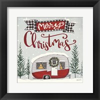 Framed Merry Christmas Camper