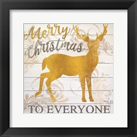 Framed Merry Christmas Deer