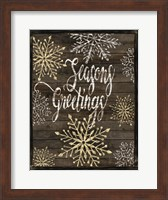 Framed Snowflake Seasons Greetings
