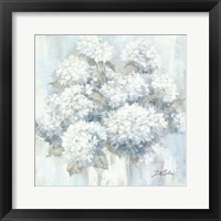 Framed White Hydrangeas
