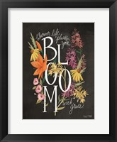 Framed Bloom with Grace