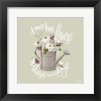Framed Farmhouse Watering Can