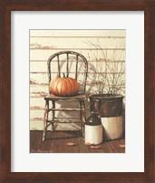 Framed Pumpkin & Chair