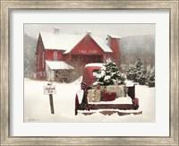 Framed Tree Farm Christmas