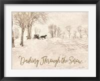 Framed Dashing Through the Snow