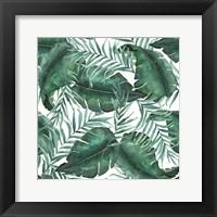 Framed Monstea Leaves Pattern