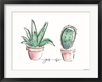 Framed You and Me Cactus