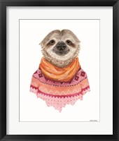 Framed Sloth in a Sweater