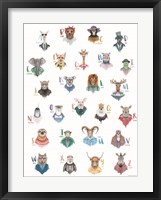 Framed Animal Alphabet Poster