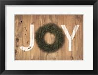 Framed Joy Cedar Wreath