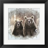 Framed Enchanted Winter Bears