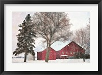 Framed Snowy Barn