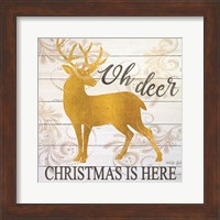 Framed Oh Deer Christmas is Here