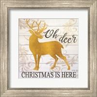 Framed Oh Deer Christmas is Here